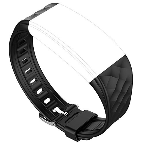 Juboury Replacement Band - Adjustable Strap for Juboury Heart Rate Activity Trakcer Smart Wristband (Black)