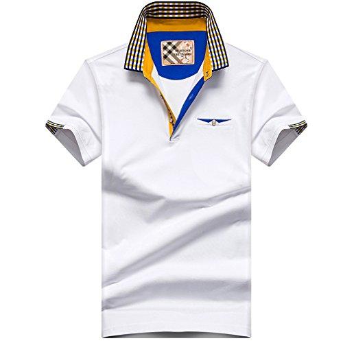 ポロシャツ メンズ 半袖 ポケット付き ゴルフウェア ゴルフ 男性用ポロ レイヤード 大きいサイズ 通気性 速乾