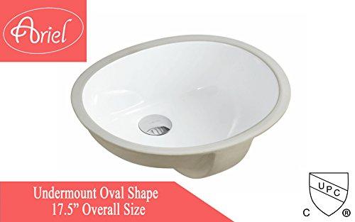 Undermount White Ceramic Sink - 3