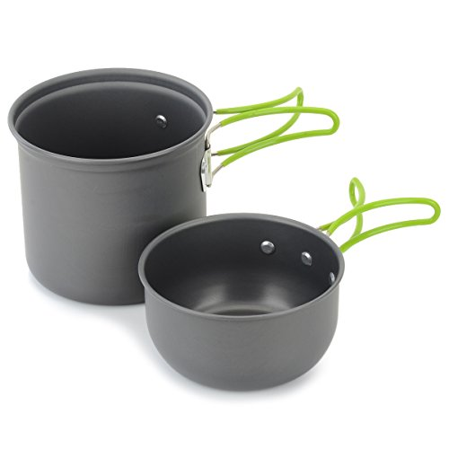OLSUS Outdoor Camping pan Hiking Cookware Backpacking Cooking Picnic Bowl Pot Pan Set for Camping/Travel/Cycling/Picnic by OLSUS