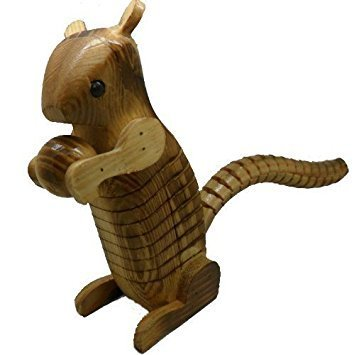 URC Online Wooden Squirrel, Ashake Squirrel Shape Toys, Assembling Toys, Wooden Squirrel, Wooden Animal Squirrel, Yellow Color Size 6 X 3 Inch by URC Online (Image #4)