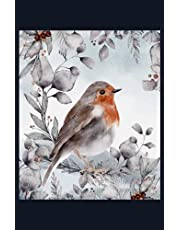 """Robin Bird: 5.5"""" x 8.5"""" Journal for writing Down Habits Diary, Notebook, Ruled/Lined, 192 Pages"""