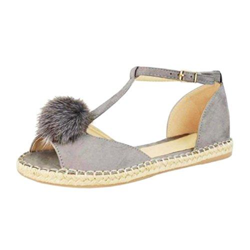 del de RETUROM verano manera Sandalias sandalias la de zapatos casuales Mujer los boca de las Gris la romanos oras pescados Se de para mujeres planos zapatos nExqw8aqX