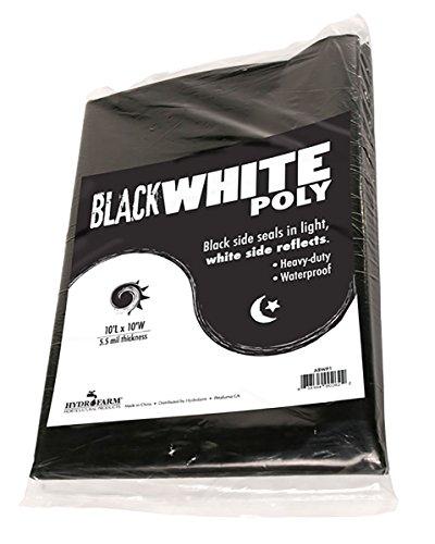 Black & White Poly, 10' x 25', 5.5 mil (Poly Film)