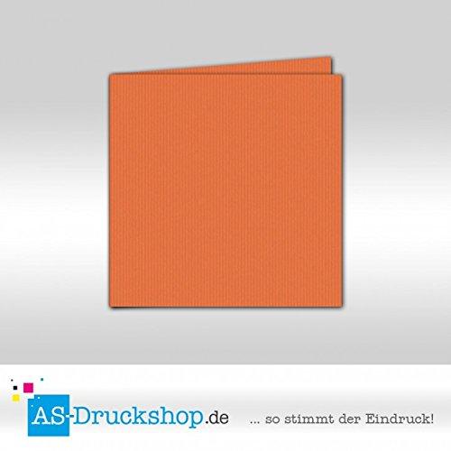 Faltkarte Doppelkarte - Hummerrot 50 Stück Quadratisch 155 x 155 mm B0794Y9C3R | Angemessener Preis