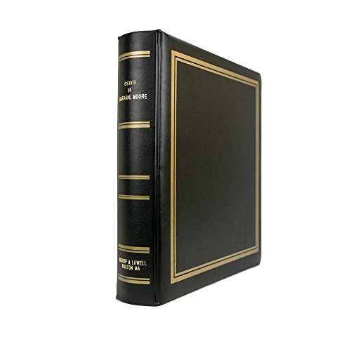 Blumberg Estate Planning Portfolio with Estate of Client's Name and Firm Name Gold Lettered on the Binder, Includes 27-Part Estate Planning Index, Plush Raven