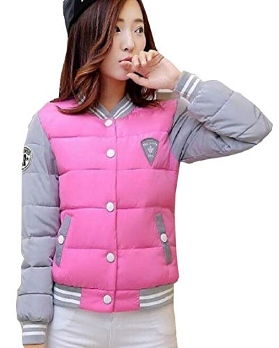 Outdoor Women Lightweight Quilted Long Jacket Sleeve Red Down Warm Rose Gocgt 7HqnwxFdt7
