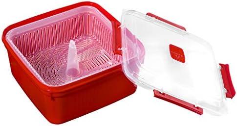 Smart-T-Haus Taper Cocina Vapor con Válvula, Rojo, 2.8 L: Amazon ...