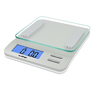 Accuweight Digital Kitchen Scale Electronic Meat Food Weight Scale, 5kg/11lb AW-KS005WS