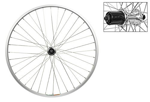 Wheel master Rear Bicycle Wheel 26 x 1.5 36H, Alloy, Quick Release, Silver, Shimano 8 speed Hub by WheelMaster -  8175972