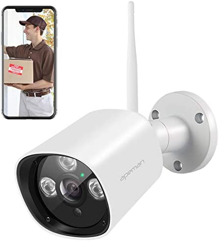 APEMAN Outdoor Security Camera Wireless 1080P Home Surveillance System WiFi IP Camera CCTV IP66 Waterproof Night Vision Motion Detection Compatible with iOS Android Systems