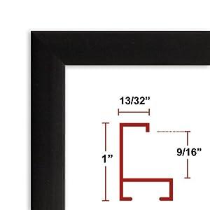 36 x 48 satin black poster frame profile 93 custom size picture frame