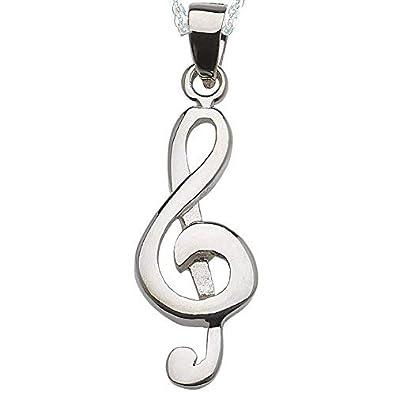 faef2f5f8dac Alylosilver Collar Colgante Clave de Sol Musica de Plata para Mujer -  Incluye una Cadena de Plata de 40 Centimetros y un Estuche para Regalo   Amazon.es  ...