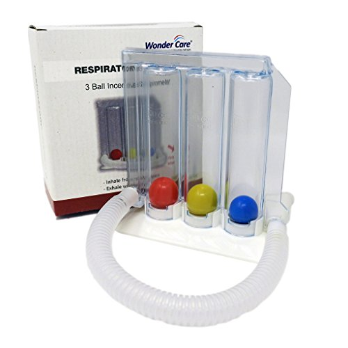 3 Ball Spirometer - esercitatore respiratorio/Spirometro incentivante con 3 bolas: Amazon.es: Salud y cuidado personal