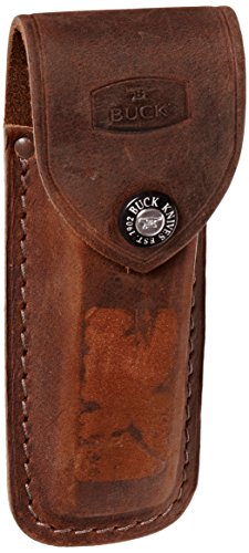 Buck Leather - Buck 110 Folding Hunter Distressed Brown Sheath