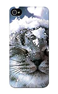 Flyingangela Fashion Protective Animal Cat Case Cover For Iphone 5/5s