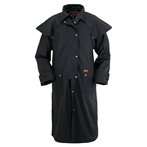 (Outback Trading Waterproof Oilskin Low Rider Duster Black Size XL)