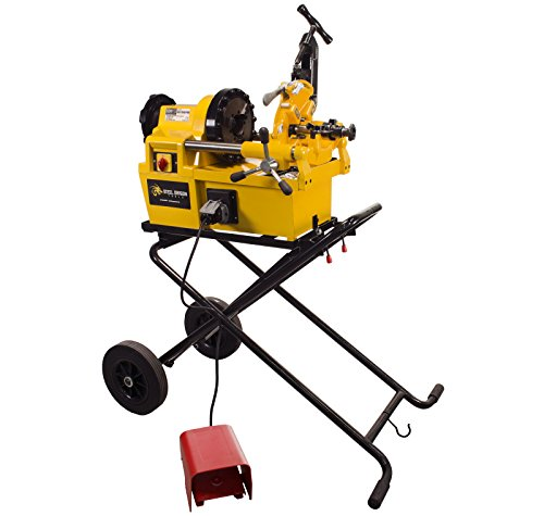 Steel Dragon Tools 7090 Pro Pipe Threading Machine with Cart fits RIDGID 811A Die Head