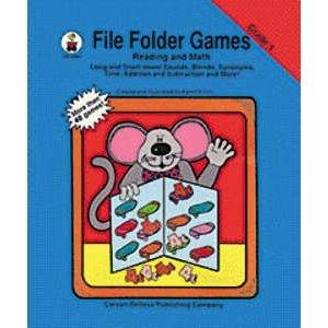 File Folder Games Book Reading & Math: Grade 1 (Carson Dellosa File Folder)
