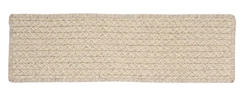 Natural Wool Houndstooth HD31 Stair Tread, Cream, 1-Pack