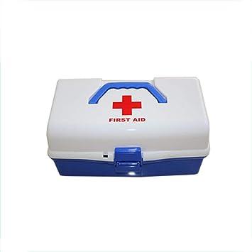 DYHQQ Estuche de Primeros Auxilios, Organizador de Almacenamiento del Kit de Emergencia Familiar, 3 Capas, Botiquín de Primeros Auxilios con asa portátil: Amazon.es: Hogar