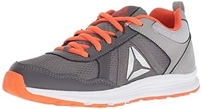 Reebok Unisex Almotio 4.0 Sneaker, ash tin Grey/Bright, 1 M US Little Kid