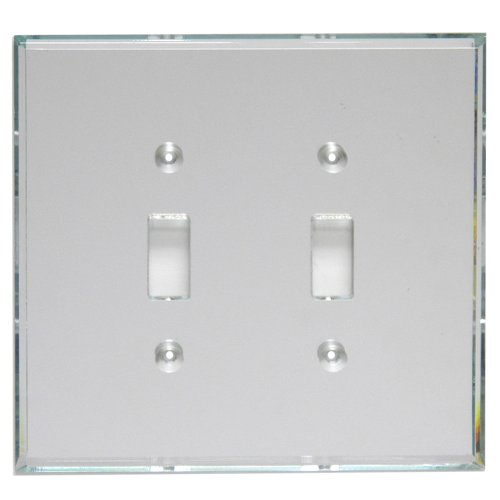 (GlassAlike Double Switch Acrylic Mirror Plate)