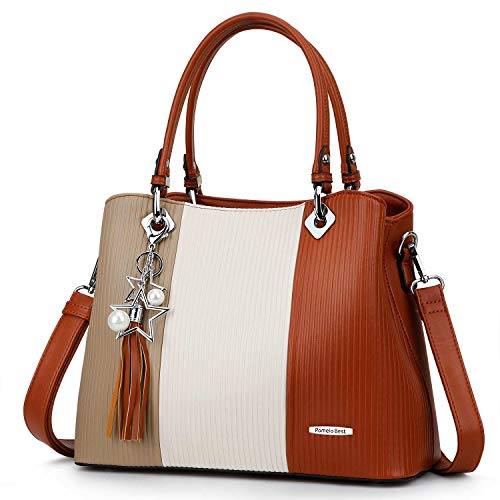 Handbags for Women with Multiple Internal Pockets in Pretty Color Combination (Extra Large - ()
