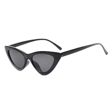 Yangjing-hl Gafas de Sol de Ojo de Gato pequeño Mujer Gafas ...