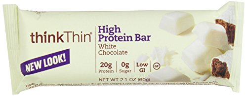 Thin Chocolate White (Think Thin! High Protein Meal Alternative Nutrition Bar, White Chocolate, 2.1 Ounce Bar (Pack of 10))