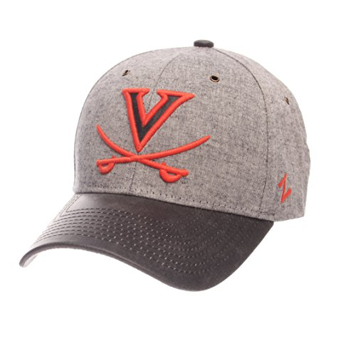 ZHATS NCAA Virginia Cavaliers Adult Men The Supreme Cap, Adjustable, Gray
