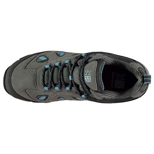 Karrimor Femmes Aspen Chaussures De Marche Basses Randonnée Charcoal/Bleu 41 I4ag2e5d