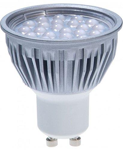3er LED Einbaustrahler Set mit LED LED LED GU10 Markenstrahler von LEDANDO - 5W - schwenkbar - warmweiss - 60° Abstrahlwinkel - A+ - 50W Ersatz - Bicolor Alu 13169a