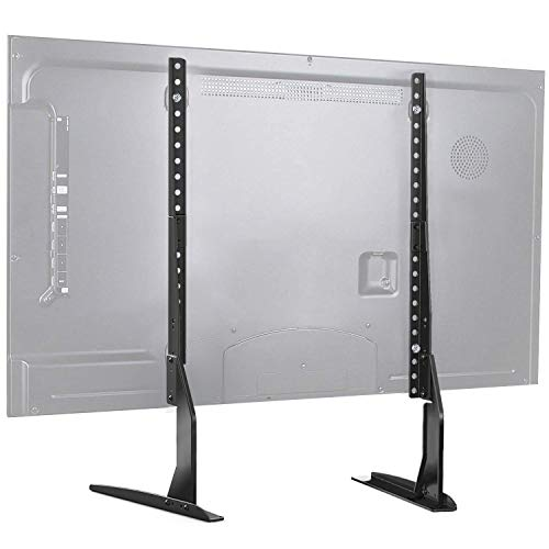 PERLESMITH Universal Table Top TV Stand for 37-65 Inch Flat Screen, LCD TVs Premium Height Adjustable Leg Base Stand Holds up to 110lbs, VESA up to 800x400mm