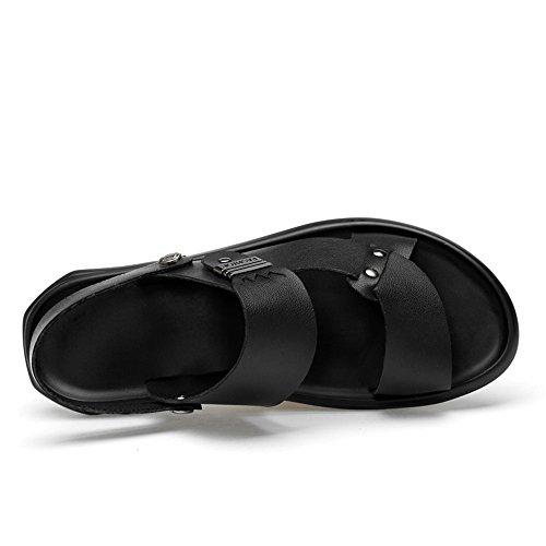 39 Antideslizante Hombres Super Summer Transpirables Casual Zapatillas New para de 2018 Sandalias Fibra Negro EU Negro Flexible Playa Sandalias Color tamaño 0vS4wqxUWg