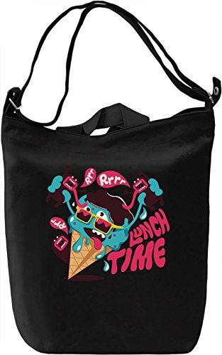 Lunch time Borsa Giornaliera Canvas Canvas Day Bag| 100% Premium Cotton Canvas| DTG Printing|