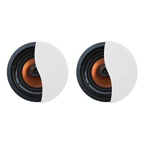 Klipsch CDT-5800-C II 8'' In-Ceiling Pivoting Speakers - Pair (White) by Klipsch