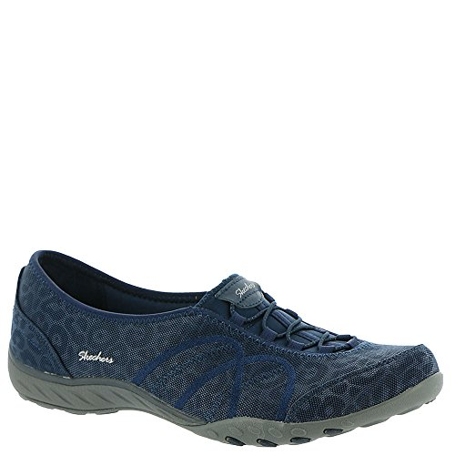 Skechers Breathe Women's Bold On Easy Active Slip Navy Risk q7wRxgOfq