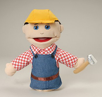 Marvel MTC-316 Construction Worker Puppet - Multi-Ethnic Career