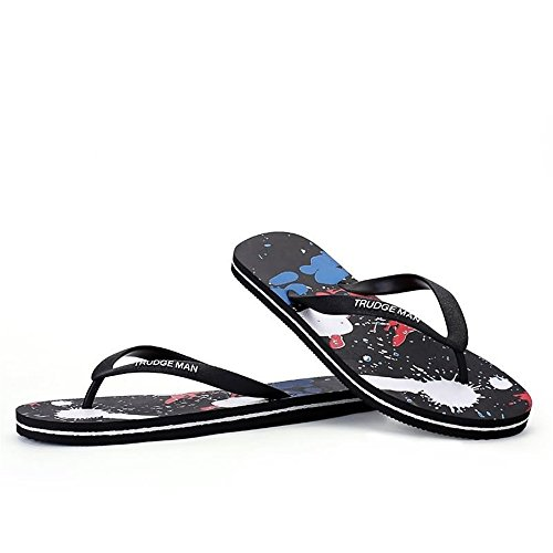 Durable Thong Flops Blue up Sandals Size Sapphire Size to Men's amp;Baby Sunny Color Flip 48 MUS 8 Slipper Classic Black wXnZq7EF8