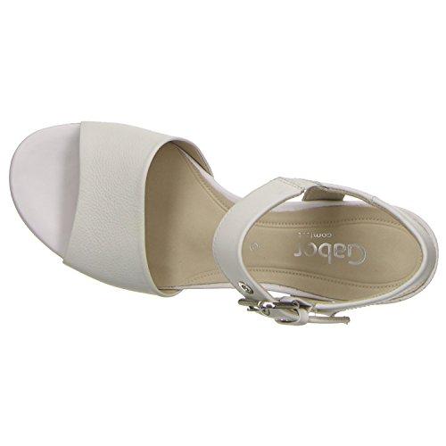 Peep Gabor Gabor Peep Toe Bianco Donna Y7CqHwx