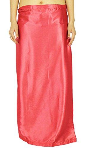 Ready-Made Inskirt Lining For Sari Indian Satin Silk Petticoat Gift For (Satin Petticoat)