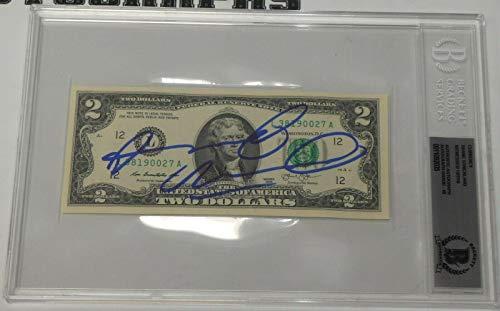 Shane Strickland Signed $2 Dollar Bill BAS Beckett COA WWE Gem Mint 10 Autograph - Beckett Authentication (Signed Strickland)