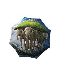 La Bella Umbrella Elephants Designer Umbrella in Gift Box, Automatic Folding
