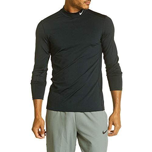 NIKE Mens Fitted Mock Turtleneck Black (XX-Large)