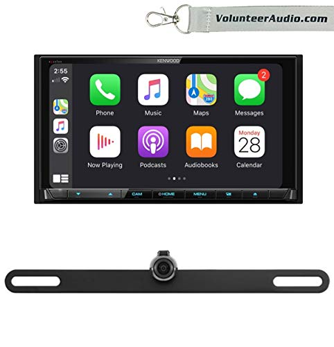Kenwood DDX9906XR Double Din Touchscreen DVD Receiver Radio With Apple CarPlay, Android Auto, SiriusXM Ready, Free Reverse Backup Camera -  Volunteer Audio, VTL16 DDX9906XR