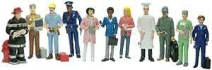 Miniland Educational 154177 - Estuche de figuras para aprender los oficios, 11 unidades