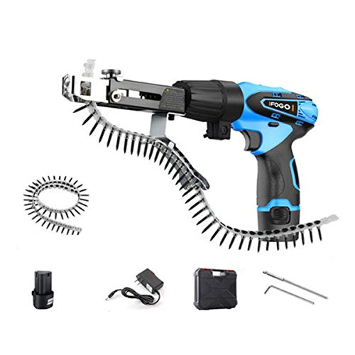 12V Electric Screw Gun Automatic Decoration Chain Nail Gun and Lithium Drill (12V chain gun one battery one charger)