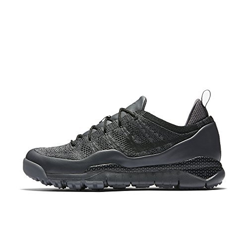 NIKE LUPINEK FLYKNIT LOW mens fashion-sneakers 882685-001_10.5 - DARK GREY/BLACK-COOL GREY