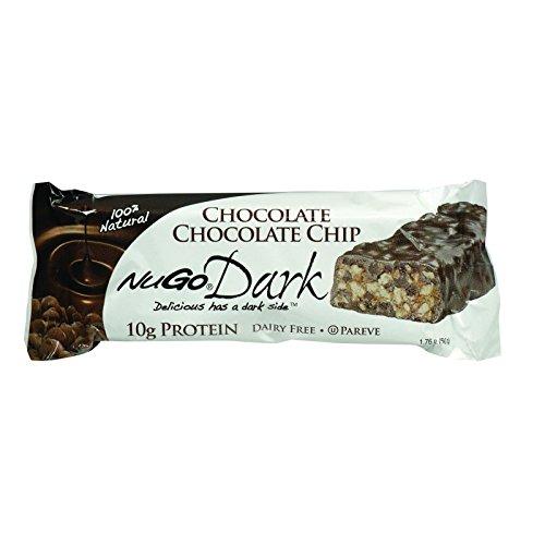 NuGo Nutrition Bar - Dark - Chocolate Chocolate Chip - 50 g - Case of 12